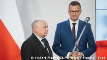 Regierungsumbildung in Polen | Mateusz Morawiecki und Jaroslaw Kaczynski