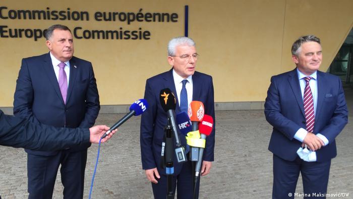 Bosnien Herzegowina   Milorad Dodik, Šefik Džaferović und Željko Komšić (Marina Maksimović/DW )