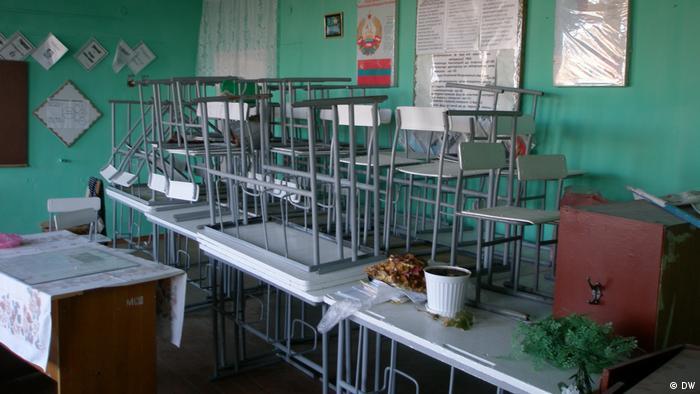 O sală de clasă în Transnistria