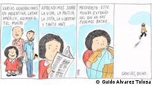 Karikatur Autor: Guido Alvarez Tolosa Rechte hat DW.