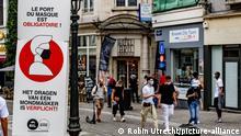 Belgien Coronavirus Maskenpflicht