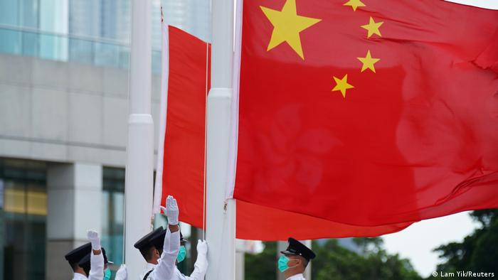 Hongkong 71. Nationalfeiertag der Volksrepublik China