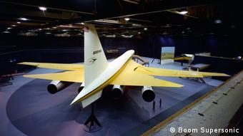 Μοντέλο του μελλοντικού Overture από τη Boom Supersonic