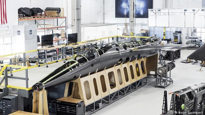 Boom Supersonic's XB-1, nicknamed Baby Boom, in production.