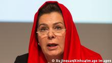 Bilder des Tages Internationale Konferenz des Roten Kreuz in Genf (151208) -- GENEVA, Dec. 8, 2015 -- Fatima Gailani, President of Afghan Red Crescent and chair of the conference, delivers a speech at the opening ceremony of the 32nd International Conference of the Red Cross and Red Crescent in Geneva, Switzerland, Dec. 8, 2015. The 32nd International Conference of the Red Cross and Red Crescent opened in Geneva s International Conference Centre on Tuesday. The International Conference, held from Dec. 8 to Dec. 10, is a unique global forum bringing together the leaders from over 190 State Parties to the Geneva Conventions of 1949 and the International Red Cross and Red Crescent Movement. ) SWITZERLAND-GENEVA-RCRC-32ND INTERNATIONAL CONFERENCE XuxJinquan PUBLICATIONxNOTxINxCHN Images the Day International Conference the Red Cross in Geneva 151208 Geneva DEC 8 2015 Fatima Gailani President of Afghan Red Crescent and Chair of The Conference delivers a Speech AT The Opening Ceremony of The 32nd International Conference of The Red Cross and Red Crescent in Geneva Switzerland DEC 8 2015 The 32nd International Conference of The Red Cross and Red Crescent opened in Geneva S International Conference Centre ON Tuesday The International Conference Hero from DEC 8 to DEC 10 IS a Unique Global Forum bringing Together The Leaders from Over 190 State Parties to The Geneva Conventions of 1949 and The International Red Cross and Red Crescent Movement Switzerland Geneva 32nd International Conference XuxJinquan PUBLICATIONxNOTxINxCHN