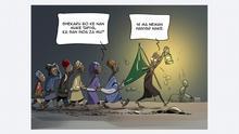 Cartoon - 60 Jahre Unabhängigkeit Nigeria