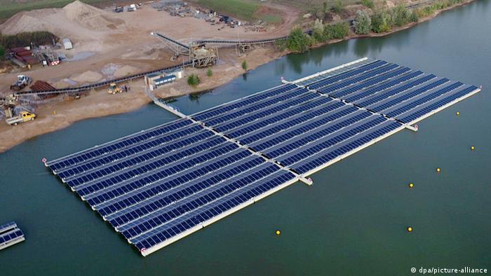 Плавучая солнечная электростанция в немецком городе Веце