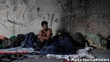 Bosnien und Herzegowina Migranten an der Bosnisch-Kroatischen Grenze bei Velika Kladusa