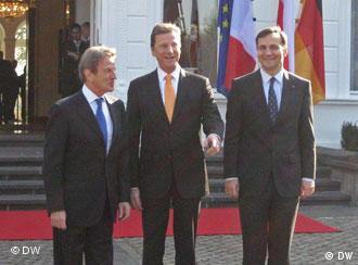 Bernard Kouchner Guido Westerwelle, Radosław Sikorski
