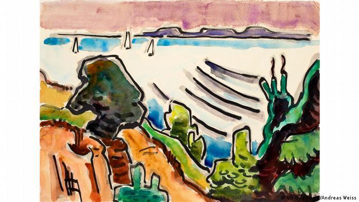 Karl Schmidt-Rottluff painting 'Baltic Sea by Sierksdorf' (VG Bild-Kunst/Andreas Weiss)