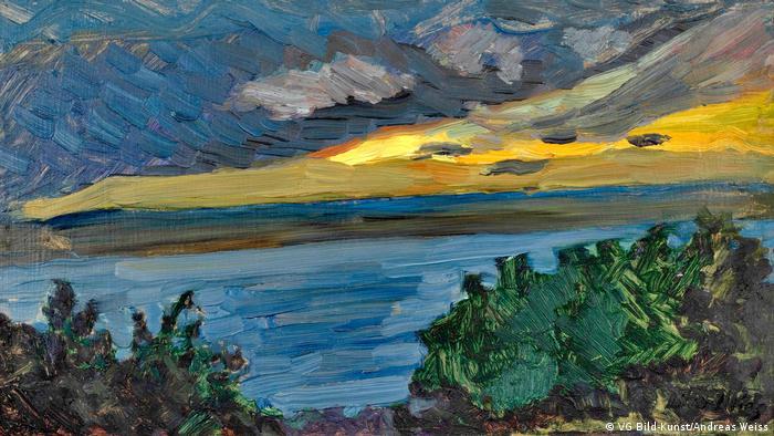 Otto Illies painting 'Falkenstein sunset' (VG Bild-Kunst/Andreas Weiss)