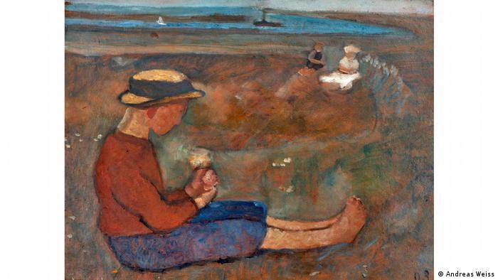 Paula Modersohn-Becker painting 'Sitting Boy in Dune Landscape' (Andreas Weiss)