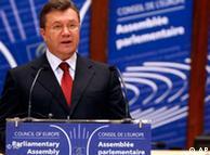 Выступление  Виктора Януковича на Совете Европы в Страсбурге