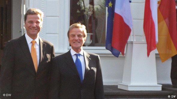 Gospodarz spotkania Guido Westerwelle i szef francuskiej dyploamcji Bernard Kouchner
