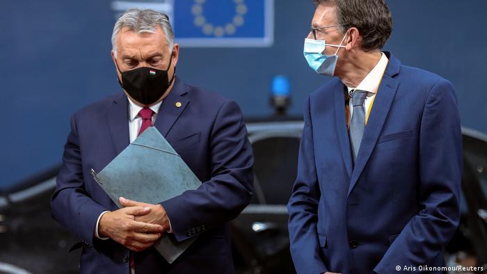 Viktor Orban arrives in Brussels