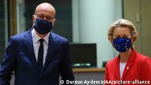 Brüssel EU Sondergipfel Michel von der Leyen