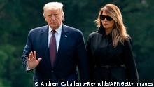 USA Washington Donald Trump und Melania (Andrew Caballerro-Reynolds/AFP/Getty Images)