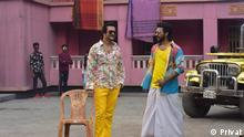 Bangladesch | Schauspieler Emon und Nirob während Werbedreharbeiten in Dhaka