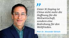 Zitattafel | Prof. Dr. Alexander Görlach zu China