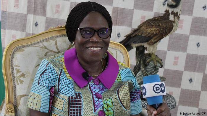 Former Ivorian First Lady Simone Gbagbo talking to DW.
