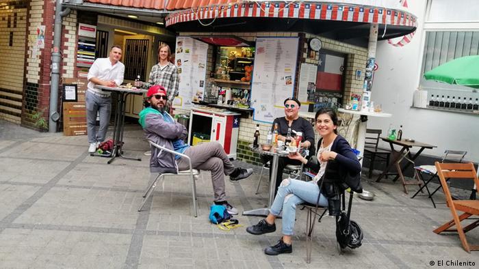 El chilenito, en el barrio de Kreuzberg.