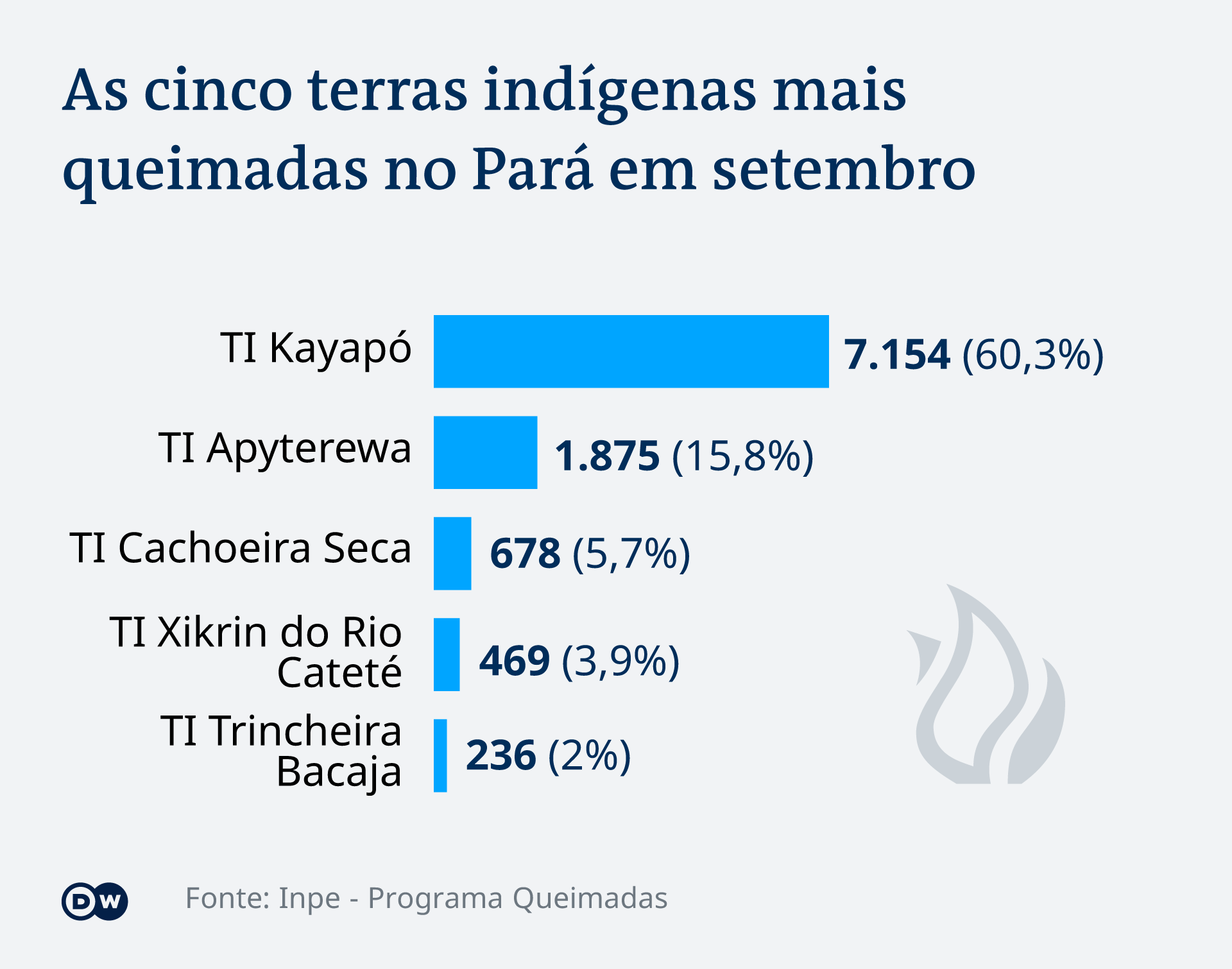 Infografik Brände in indigenen Gebieten Brasilien PT