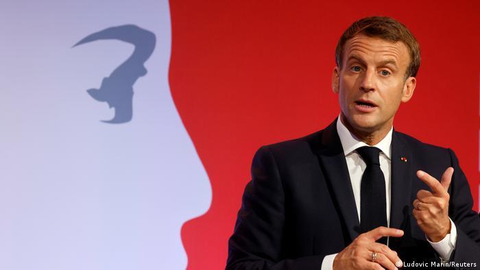 Frankreich Les Mureaux | Rede Präsident Macron