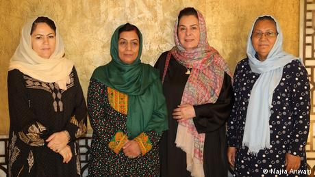 Four Afghan women who negotiate with the Taliban