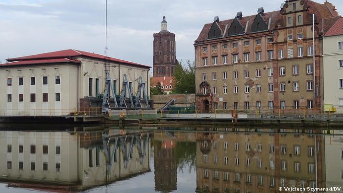 Deutsch-polnische Grenze   Blick auf Gubin an der Neiße
