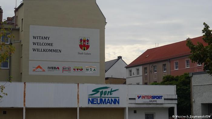 Deutsch-polnische Grenze   Stadt Guben an der Neiße