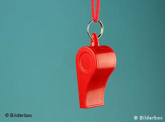 A red whistle