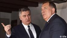 Balkan Milorad Dodik im Gespräch mit dem Präsidenten Kroatiens Zoran Milanovic