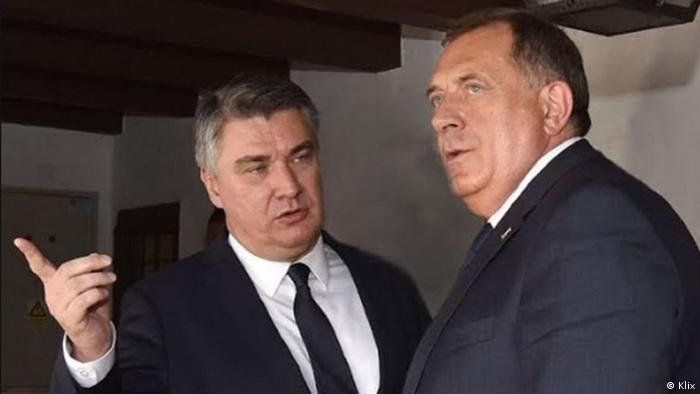 Milanović i Dodik u Zagrebu