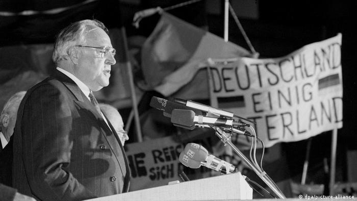 Канцлер німецької єдності Гельмут Коль під час виступу у 1989 році