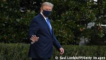Washington | Trump Abflug Militärkrankenhaus