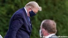 Washington | Trump Ankunft Militärkrankenhaus