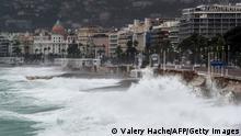 Nizza | Sturm Alex trifft die Küste
