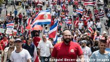 Costa Rica San Jose | Protest gegen die Regierung und Kreditverinbarung mit der IMF
