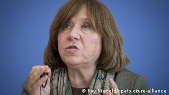 Die Literaturnobelpreisträgerin Swetlana Alexijewitsch aus Belarus.