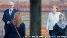 Deutschland Potsdam | Zentrale Feierlichkeiten zum Tag der Deutschen Einheit | Frank-Walter Steinmeier und Angela Merkel