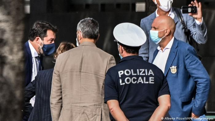 Matteo Slavini arrives at court (Alberto Pizzoli/AFP/Getty Images)