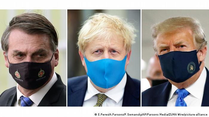 Corona-Pandemie   Bolsonaro, Johnson und Trump