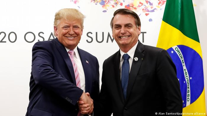 Former US President Donald Trump and Brazilian President Jair Bolsonaro