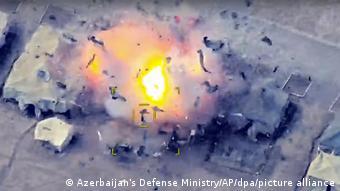 Удар ракеты в Нагорном Карабахе, 2020 год