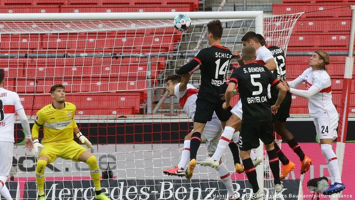 Bundesliga VfB Stuttgart vs Bayer 04 Leverkusen | Tor Schick (Hansjürgen Britsch/Pressefoto Baumann/picture-alliance)