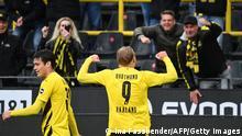 Bundesliga - Borussia Dortmund gegen SC Freiburg   Tor Haaland