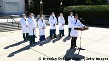USA | Coronavirus | Donald Trump im Walter-Redd Militärkrankenhaus | PK Sean Dooley