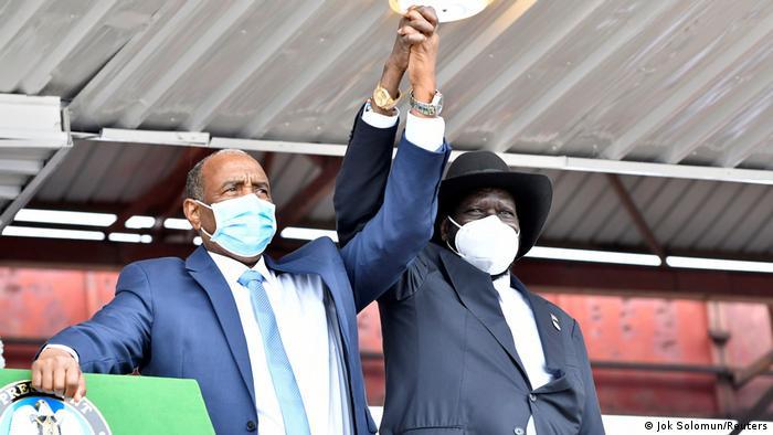 General sudanês Abdel Fattah al-Burhan e Presidente Salva Kiir