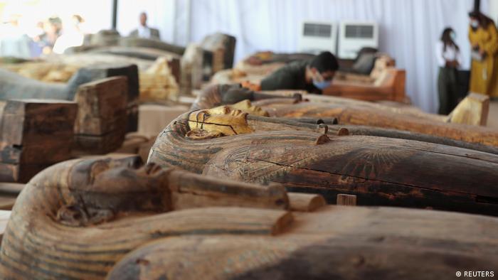 Ägypten |Gizeh | Enthüllung antiker Sarkophage (REUTERS)