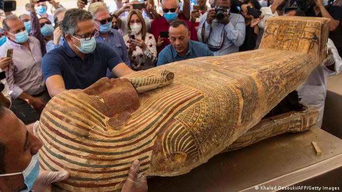 Ägypten Sakkara | gut erhaltene Särge gefunden (Khaled Desouki/AFP/Getty Images)